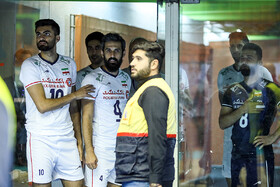 Volleyball players are seen before the match between Iran and Sri Lanka at 2019 Asian Men's Volleyball Championship, Tehran, Iran, September 13, 2019.