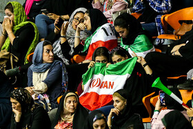 On the sidelines of the volleyball match between Iran and Sri Lanka at 2019 Asian Men's Volleyball Championship, Tehran, Iran, September 13, 2019.