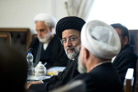 Iran's Judiciary Chief Ebrahim Raeisi is seen in the session of Supreme Council of Economic, Tehran, Iran, September 14, 2019.