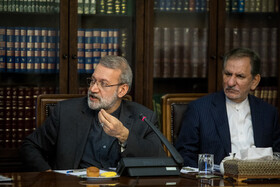 Iranian Parliament Speaker Ali Larijani delivers a speech in the session of Supreme Council of Economic Cooperation, Tehran, Iran, September 14, 2019.