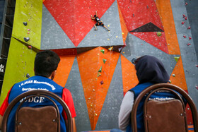 2nd edition of Iranian clubs bouldering championship, Hamedan, Iran, September 14, 2019.