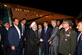 President Rouhani arrives in Ankara