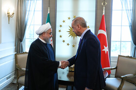 Meeting between Iranian President Hassan Rouhani (L) and Turkish President Recep Tayyip Erdoğan, Ankara, Turkey, September 16, 2019.