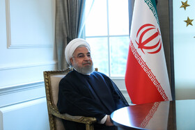 Iranian President Hassan Rouhani is seen in his meeting with Turkish President Recep Tayyip Erdoğan, Ankara, Turkey, September 16, 2019.