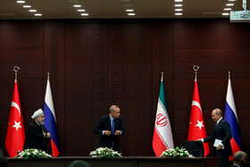 Press conference of 5th tripartite summit of Iran, Russia, Turkey