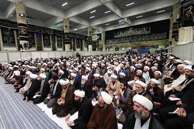 """Session of the Leader's Dars-e Kharij lecture, Tehran, Iran, September 17, 2019. During the session Ayatollah Khamenei said: """"The policy of maximum pressure on the Iranian nation is of little importance, and all the officials in the Islamic Republic unanimously believe that there will be no negotiations at any level with the United States""""."""