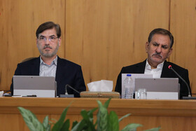 Iranian First Vice-President Es'haq Janhangiri (R) is present in the session of Iran's cabinet ministers, Tehran, Iran, September 18, 2019.