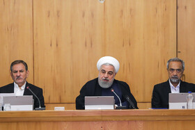 Iranian President Hassan Rouhani delivers a speech during the session of Iran's cabinet ministers, Tehran, Iran, September 18, 2019.
