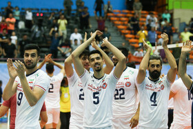 On the sidelines of the volleyball match between Iran and Chinese Taipei, Tehran, Iran, September 19, 2019.