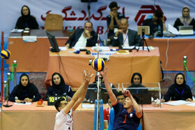 Volleyball match between Iran men's national volleyball team and Chinese Taipei, Tehran, Iran, September 19, 2019.