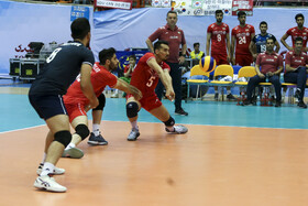 Volleyball match between Iran and South Korea, Tehran, Iran, September 20, 2019.