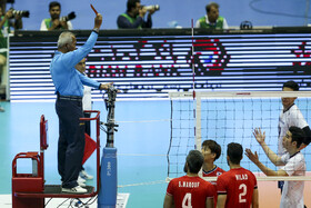 On the sidelines of the volleyball match between Iran and South Korea, Tehran, Iran, September 20, 2019. Iran beat South Korea 3-1 to reach the final of the 2019 Asian Men's Volleyball Championship.