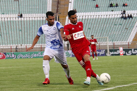 Football match between Tractor Sazi Tabriz FC and Gol Gohar Sirjan FC, Tabriz, Iran, September 20, 2019.