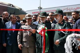 Chief Commander of IRGC Major General Hossein Salami launches the first exhibition of intruding drones, seized by Iranian Armed Forces, Tehran, Iran, September 21, 2019.