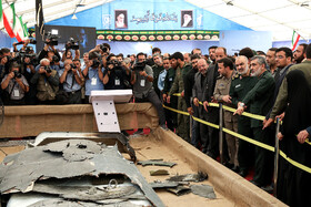 First exhibition of intruding drones, seized by Iranian Armed Forces, Tehran, Iran, September 21, 2019.