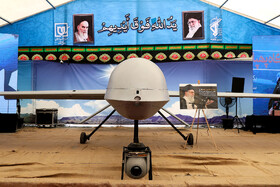 MQ-1 drone is on display in the first exhibition of intruding drones, seized by Iranian Armed Forces, Tehran, Iran, September 21, 2019.