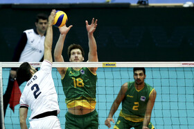 Volleyball match between Iran men's national volleyball team and Australia volleyball team, Tehran, Iran, September 21, 2019.