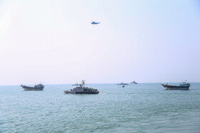 Naval parade of Iranian armed forces is held in Persian Gulf to mark the beginning of Iran's Sacred Defense Week, Iran, September 22, 2019.