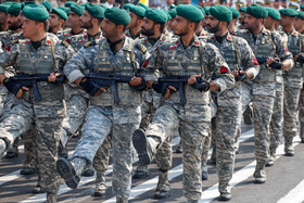 Military parade of Iranian armed forces is held in Bandar Abbas to mark the beginning of Iran's Sacred Defense Week, Iran, September 22, 2019.