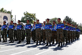 Parade ceremony of Iranian armed forces, marking the beginning of Iran's sacred defense week is held in Qazvin, Iran, September 22, 2019.