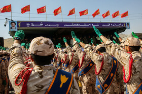 Parade ceremony of Iranian armed forces, marking the beginning of Iran's sacred defense week is held in Mashhad, Iran, September 22, 2019.
