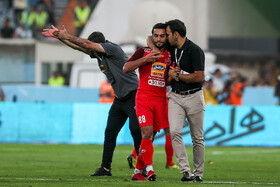 On the sidelines of the football match between Persepolis FC and Esteghlal FC, Tehran, Iran, September 22, 2019. Persepolis FC won the 90th Tehran derby 1-0.