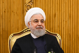 Iranian President Hassan Rouhani (M) is seen before leaving Tehran for New York, Tehran, Iran, September 23, 2019. Iranian President will attend the 74th United Nation General Assembly in New York.