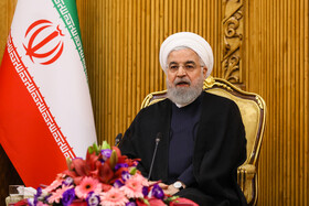 Iranian President Hassan Rouhani (M) delivers a speech in a meeting before leaving Tehran for New York, Tehran, Iran, September 23, 2019. Iranian President will attend the 74th United Nation General Assembly in New York.