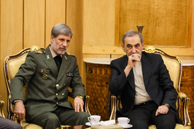Senior Advisor of Iran's Leader Ali Akbar Velayati (R) and Iranian Defense Minister Brigadier General Amir Hatami are seen on the sidelines of a meeting, after which Iranian President Hassan Rouhani left Tehran for New York, Tehran, Iran, September 23, 2019. Iranian President will attend the 74th United Nation General Assembly in New York.