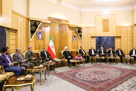 Iranian President Hassan Rouhani is present in a meeting before leaving Tehran for New York, Tehran, Iran, September 23, 2019. Iranian President will attend the 74th United Nation General Assembly in New York.
