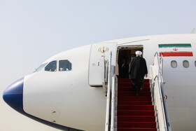 Iranian President Hassan Rouhani is seen before leaving Tehran for New York, Tehran, Iran, September 23, 2019. Iranian President will attend the 74th United Nation General Assembly in New York.