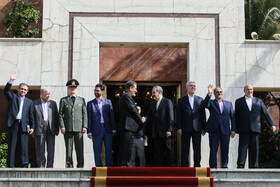 High ranking Iranian officials are seen on the sidelines of a ceremony, after which Iranian President Hassan Rouhani traveled to New York, Tehran, Iran, September 23, 2019. Iranian President will attend the 74th United Nation General Assembly in New York.