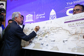 Iran's Minister of Science, Research and Technology Mansour Gholami is present in the International Conference on Silk Road held in presence of Iranian officials and foreign guests, Hamedan, Iran, September 23, 2019.