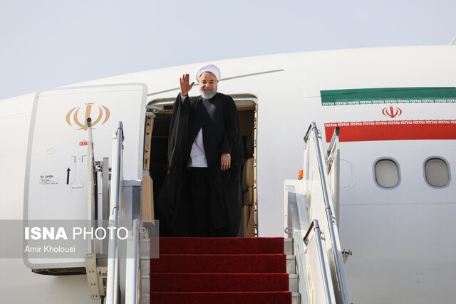 President Rouhani departs for New York