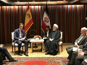 Iranian President, Spanish PM discuss promoting bilateral ties