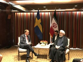Iranian President, Swedish PM stress on cementing ties in all fields