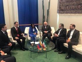 Iran's Zarif, Venezuela's Rodríguez hold talks on sidelines of UNGA