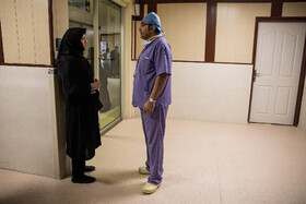 Doctor explains the success of heart transplant to the mother of the 12-year-old girl, Tehran, Iran, September 28, 2019.
