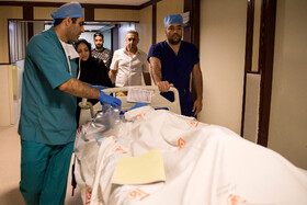 Doctors are seen after the successful heart transplant into a 12-year-old girl, Tehran, Iran, September 28, 2019.