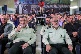Iran's Police Chief Brigadier General Hossein Ashtari (L) is present in the 18th edition of the International Police, Safety and Security Equipment Exhibition, Tehran, Iran, September 30, 2019.