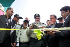 Iran's Police Chief Brigadier General Hossein Ashtari (M) is present in the opening ceremony of the 18th edition of the International Police, Safety and Security Equipment Exhibition, Tehran, Iran, September 30, 2019.