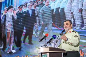 Iran's Police Chief Brigadier General Hossein Ashtari delivers a speech during the 18th edition of the International Police, Safety and Security Equipment Exhibition, Tehran, Iran, September 30, 2019.