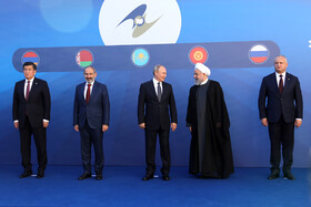 Iranian President Hassan Rouhani (2nd, R) and high-ranking officials of countries who are the members of Eurasian Economic Council are seen in the photo, Yerevan, Armenia, October 1, 2019.