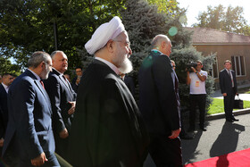 Iranian President Hassan Rouhani and high-ranking officials of countries who are the members of Eurasian Economic Council are seen in the photo, Yerevan, Armenia, October 1, 2019.