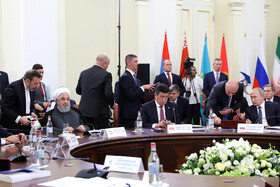 Eurasian Economic Council's Summit is held in the presence of Iranian President Hassan Rouhani and member countries, Yerevan, Armenia, October 1, 2019.