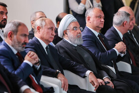 International conference on Transit Potential of the Eurasian Continent is held in the presence of Iranian President Hassan Rouhani and member countries of the Eurasian Economic Council, Yerevan, Armenia, October 1, 2019.