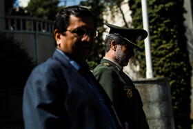 Iranian Defense Minister Brigadier General Amir Hatami (R) is seen on the sidelines of the session of Iran's cabinet ministers, Tehran, Iran, October 2, 2019.