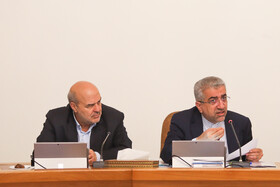 Iranian Energy Minister Reza Ardakanian (R) delivers a speech in the session of Iran's cabinet ministers, Tehran, Iran, October 2, 2019.