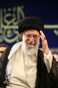 """Iran's Supreme Leader Ayatollah Ali Khamenei is seen in his meeting with the members of the High Council of the Commanders of IRGC, Tehran, Iran, October 2, 2019. In this meeting, the Supreme Leader stressed that the policies of the United States to pressure Iran have miscarried, saying: """"The Americans failed in their Maximum Pressure policy""""."""