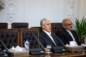 Minister of Science, Research and Technology Mansour Gholami (L) is present in the meeting of the Supreme Council of Cyberspace, Tehran, Iran, October 5, 2019.
